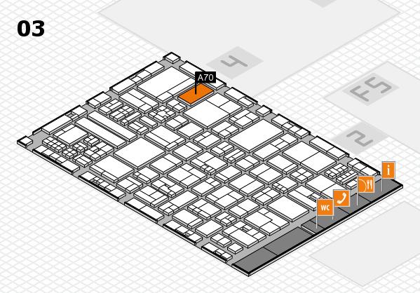 drupa 2016 hall map (Hall 3): stand A70