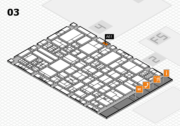 drupa 2016 hall map (Hall 3): stand A61