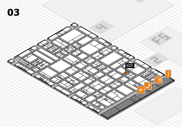 drupa 2016 hall map (Hall 3): stand B25
