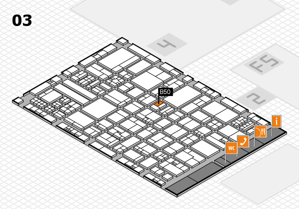 drupa 2016 hall map (Hall 3): stand B50