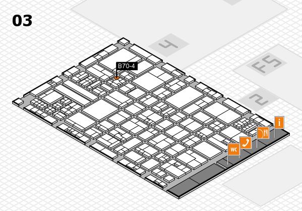 drupa 2016 hall map (Hall 3): stand B70-4