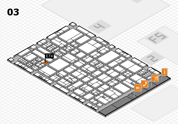 drupa 2016 hall map (Hall 3): stand E74