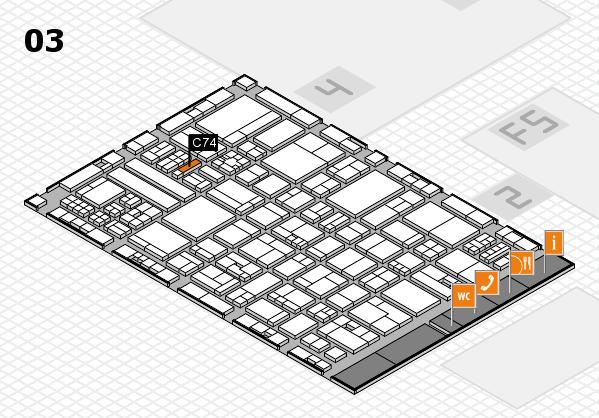 drupa 2016 hall map (Hall 3): stand C74