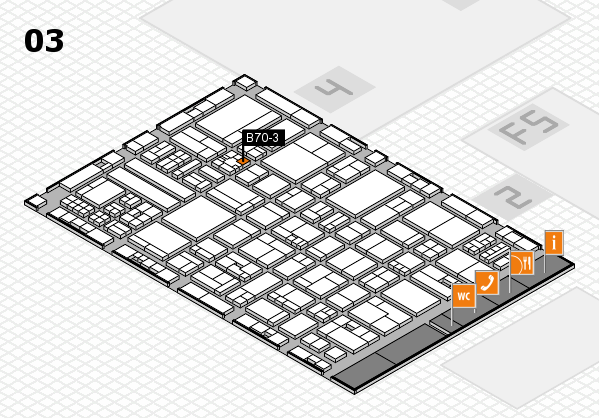 drupa 2016 hall map (Hall 3): stand B70-3