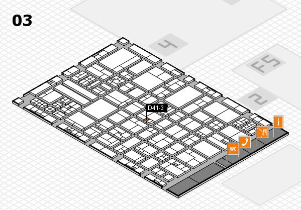 drupa 2016 hall map (Hall 3): stand D41-3