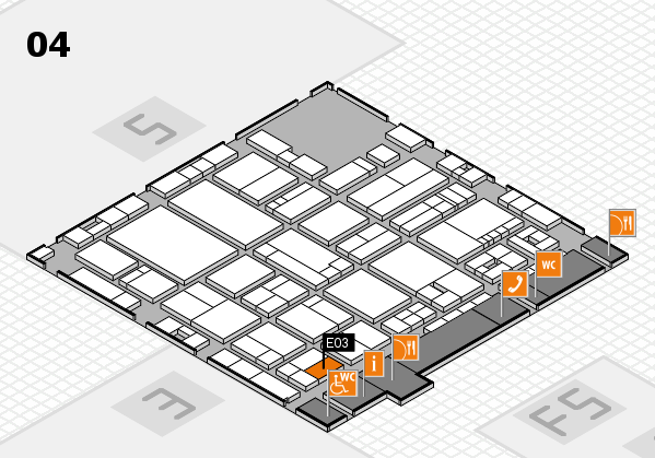 drupa 2016 hall map (Hall 4): stand E03