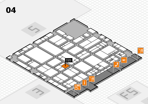 drupa 2016 hall map (Hall 4): stand D23