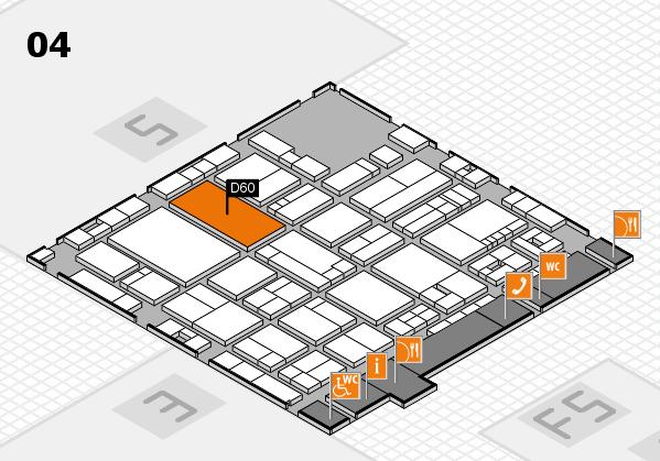 drupa 2016 Hallenplan (Halle 4): Stand D60