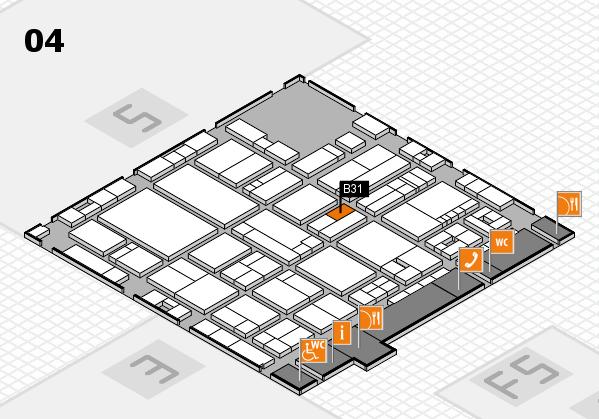 drupa 2016 hall map (Hall 4): stand B31