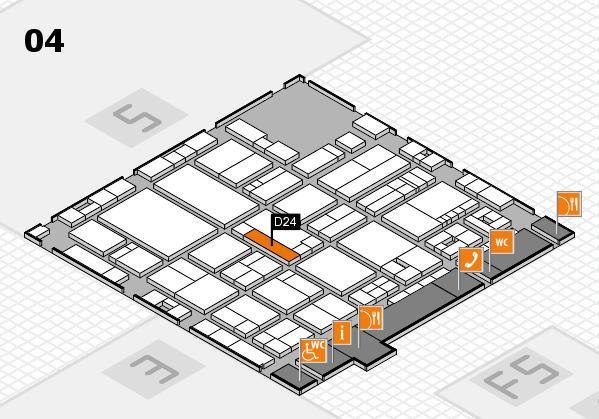drupa 2016 hall map (Hall 4): stand D24