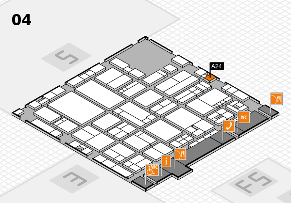 drupa 2016 Hallenplan (Halle 4): Stand A24