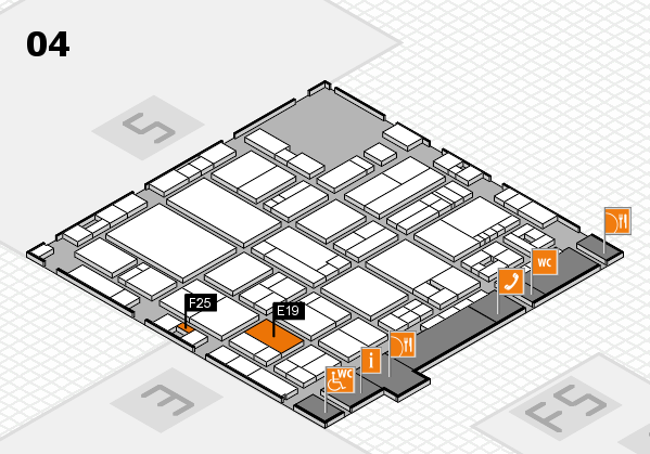 drupa 2016 Hallenplan (Halle 4): Stand E19, Stand F25