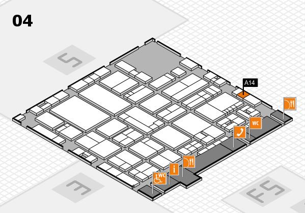 drupa 2016 hall map (Hall 4): stand A14