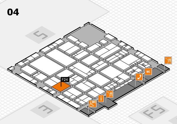 drupa 2016 Hallenplan (Halle 4): Stand F24