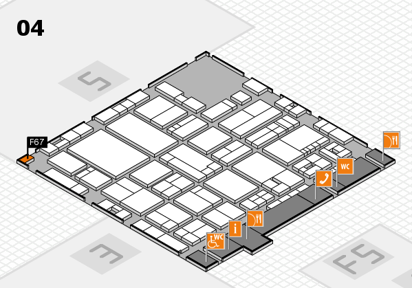 drupa 2016 Hallenplan (Halle 4): Stand F67