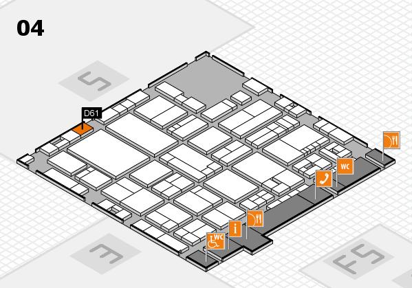 drupa 2016 Hallenplan (Halle 4): Stand D61