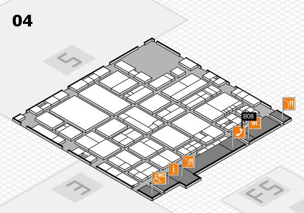 drupa 2016 hall map (Hall 4): stand B08