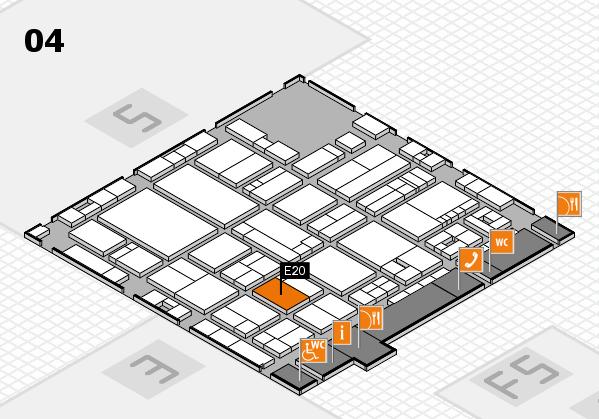 drupa 2016 Hallenplan (Halle 4): Stand E20
