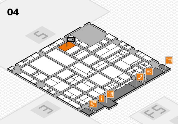 drupa 2016 Hallenplan (Halle 4): Stand B63