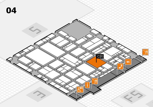 drupa 2016 hall map (Hall 4): stand C20