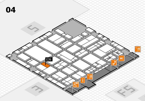 drupa 2016 Hallenplan (Halle 4): Stand E39