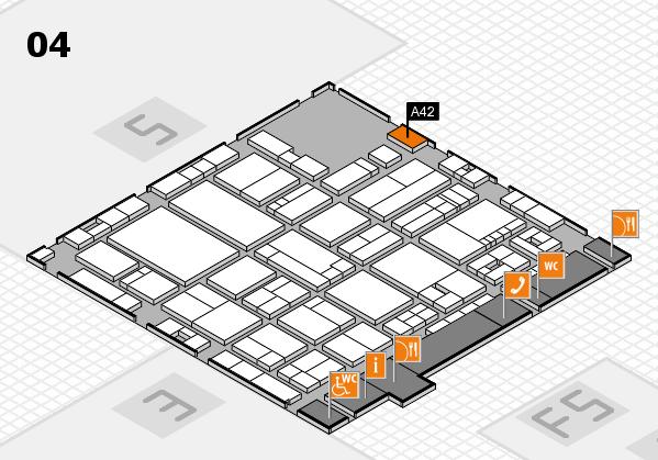 drupa 2016 hall map (Hall 4): stand A42