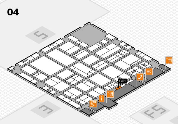 drupa 2016 hall map (Hall 4): stand C01