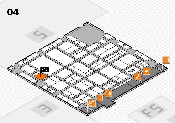 drupa 2016 hall map (Hall 4): stand F42