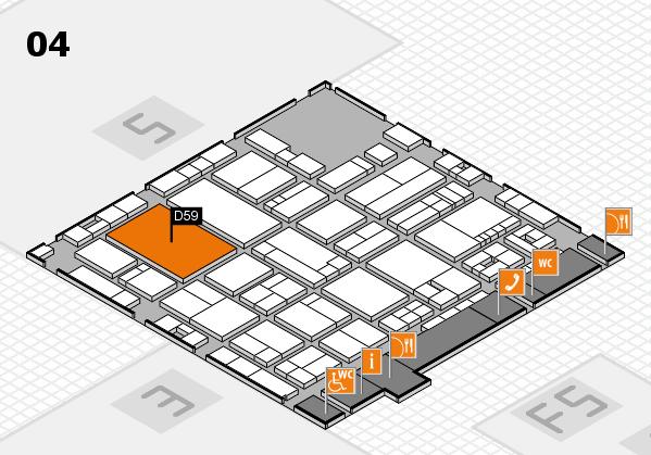 drupa 2016 Hallenplan (Halle 4): Stand D59