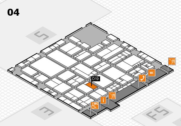 drupa 2016 Hallenplan (Halle 4): Stand D19