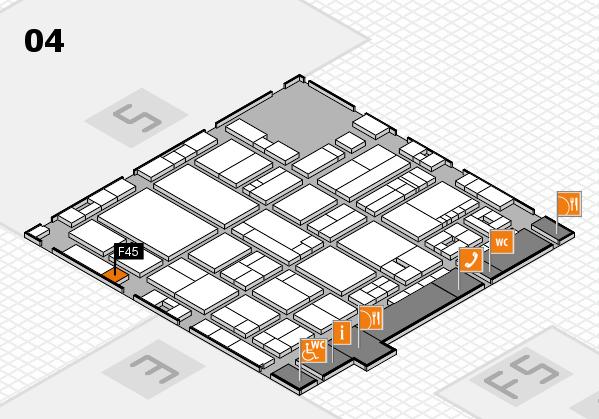drupa 2016 hall map (Hall 4): stand F45