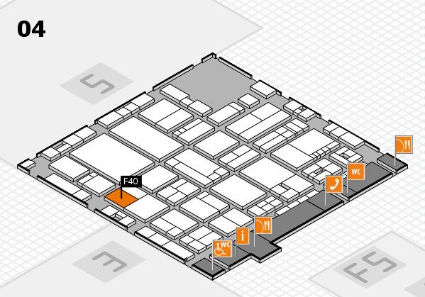 drupa 2016 hall map (Hall 4): stand F40