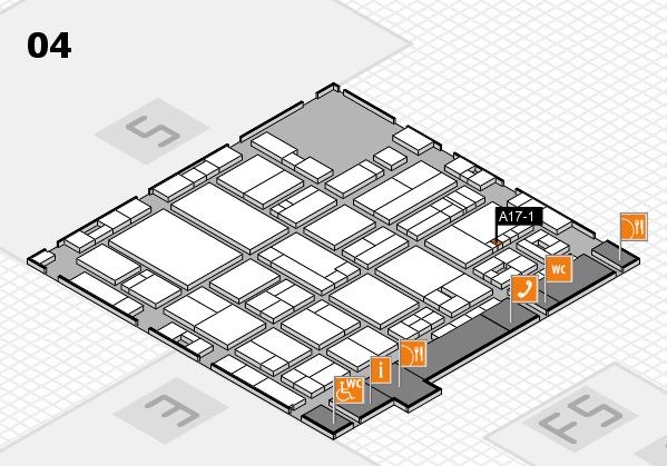 drupa 2016 hall map (Hall 4): stand A17-1
