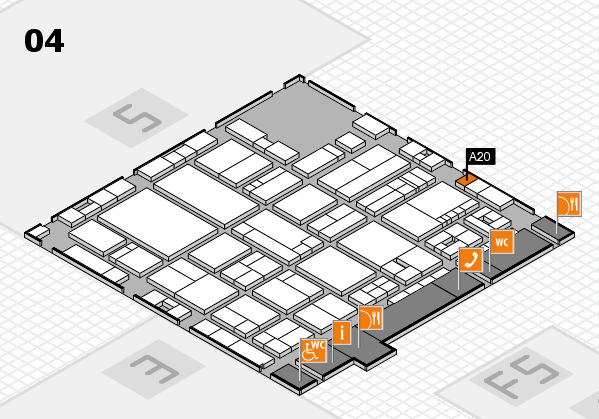 drupa 2016 Hallenplan (Halle 4): Stand A20