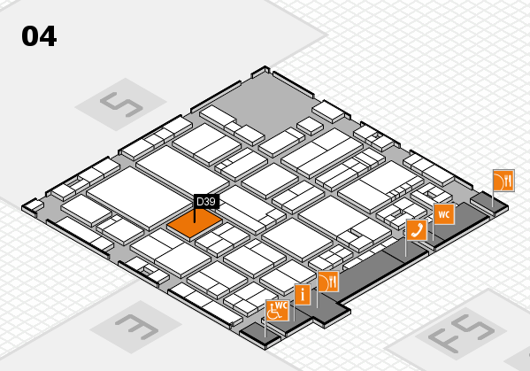 drupa 2016 Hallenplan (Halle 4): Stand D39