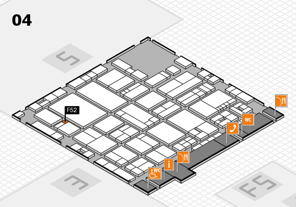 drupa 2016 Hallenplan (Halle 4): Stand F52