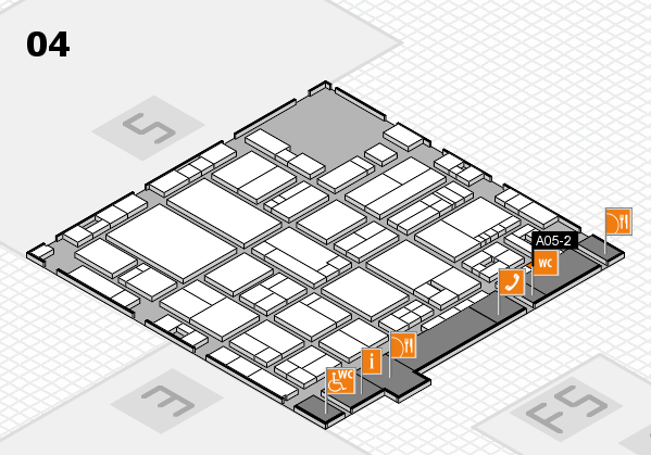 drupa 2016 hall map (Hall 4): stand A05-2