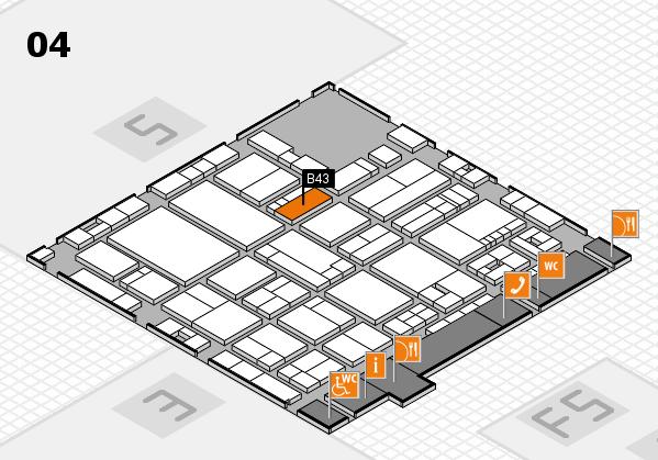 drupa 2016 hall map (Hall 4): stand B43