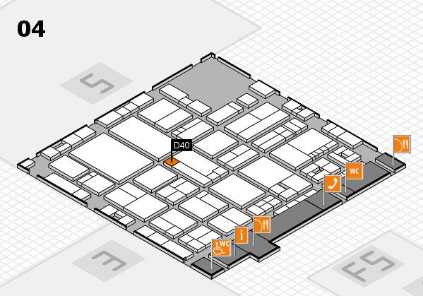 drupa 2016 hall map (Hall 4): stand D40