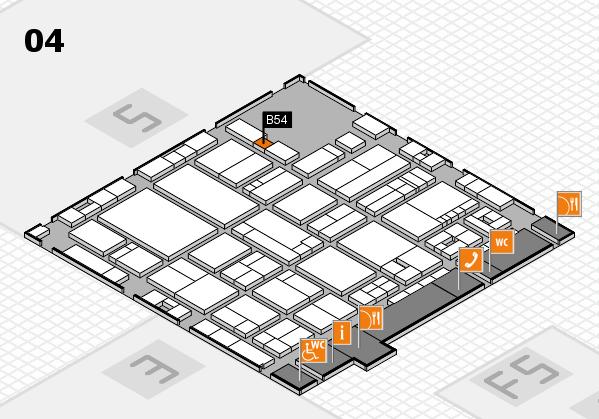 drupa 2016 hall map (Hall 4): stand B54