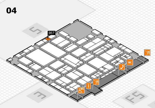 drupa 2016 hall map (Hall 4): stand B67