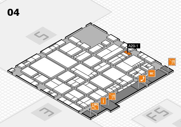 drupa 2016 hall map (Hall 4): stand A29-1