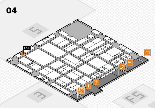 drupa 2016 hall map (Hall 4): stand F64