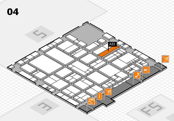 drupa 2016 Hallenplan (Halle 4): Stand A33