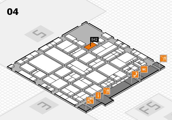 drupa 2016 hall map (Hall 4): stand B42