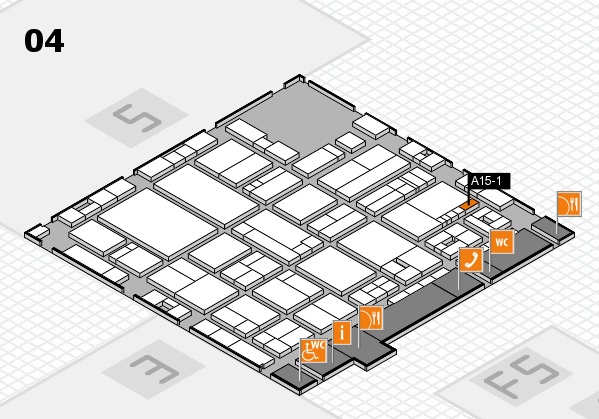 drupa 2016 hall map (Hall 4): stand A15-1