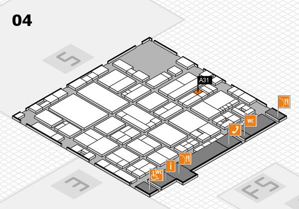 drupa 2016 hall map (Hall 4): stand A31