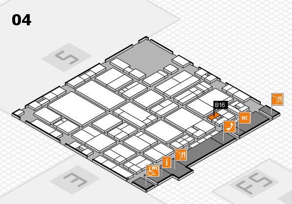 drupa 2016 hall map (Hall 4): stand B16