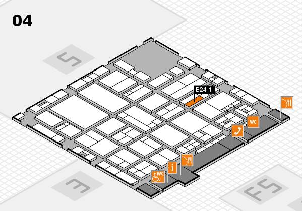 drupa 2016 hall map (Hall 4): stand B24-1