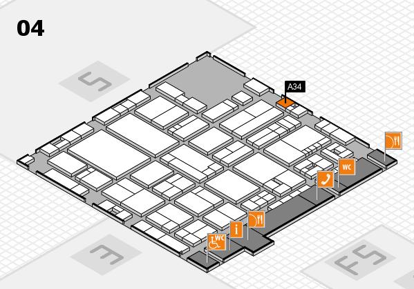 drupa 2016 hall map (Hall 4): stand A34